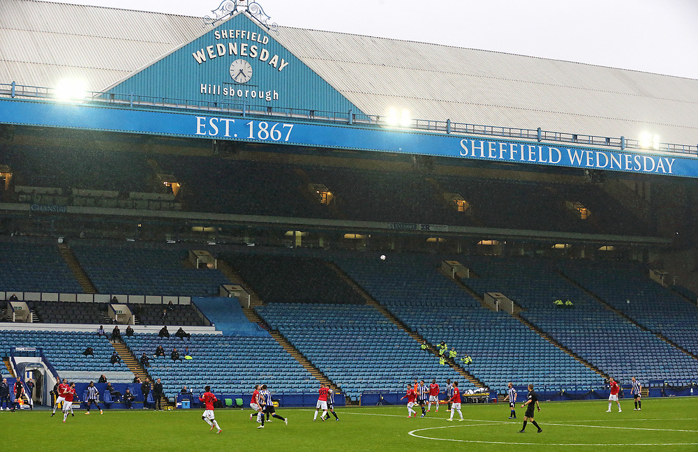 A general view of of the second half action at  Hillsborough Stadium, home of Sheffield Wednesday<br /> <br /> Photographer Rich Linley/CameraSport<br /> <br /> The EFL Sky Bet Championship - Sheffield Wednesday v Queens Park Rangers - Saturday 3rd October 2020 - Hillsborough Stadium - Sheffield <br /> <br /> World Copyright © 2020 CameraSport. All rights reserved. 43 Linden Ave. Countesthorpe. Leicester. England. LE8 5PG - Tel: +44 (0) 116 277 4147 - admin@camerasport.com - www.camerasport.com