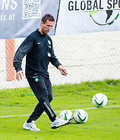 01/07/14<br /> CELTIC TRAINING<br /> AUSTRIA<br /> Celtic manager Ronny Deila gets on the ball at training