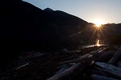 Sunset over Ross Lake, Ross Lake National Recreation Area, North Cascades National Park, Washington, US