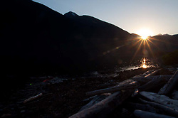 Sunset over Ross Lake, Ross Lake National Recreation Area, North Cascades National Park, Washington, US
