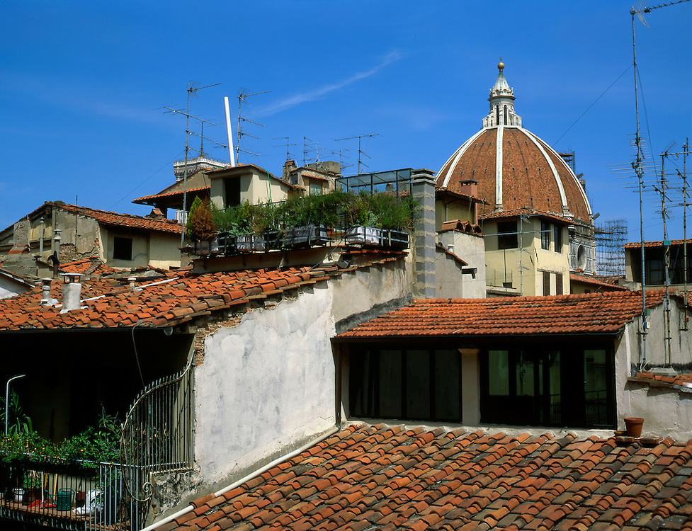 Rooftops in Florence. Italy 1993.