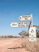 Road sign, Gawler Ranges, South Australia, Australia