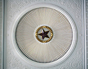 A red star decorates the ceiling of  Beijing's Military History Museum.