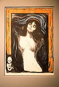 'Madonna' 1902 lithograph by Edvard Munch 1863-1944, Kode 3 art gallery Bergen, Norway