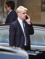 © Licensed to London News Pictures. 04/09/2019. London, UK. Conservative MP JO JOHNSON is seen at the Houses of Parliament in Westminster, London. British Prime Minister Boris Johnson has a called for a general election after losing his first commons vote and losing his majority, removing his control of parliament. Photo credit: Ben Cawthra/LNP