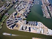 Nederland, Noord-Holland, Amsterdam; 16-04-2021; voormalig Oostelijk Havengebied, Zeeburg. Cruquiusgebied of Cruquiuseiland met links de Nieuwe Vaart, rechts Entrepothaven.<br /> Former Eastern Docklands, Zeeburg. Cruquius Area or Cruquiuseiland with the Nieuwe Vaart on the left, Entrepothaven on the right.<br /> luchtfoto (toeslag op standard tarieven);<br /> aerial photo (additional fee required)<br /> copyright © 2021 foto/photo Siebe Swart