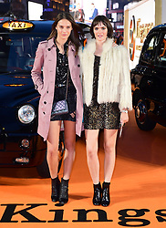 Charlotte Wiggins and Sam Rollinson attending the World Premiere of Kingsman: The Golden Circle, at Cineworld in Leicester Square, London. Picture Date: Monday 18 September. Photo credit should read: Ian West/PA Wire