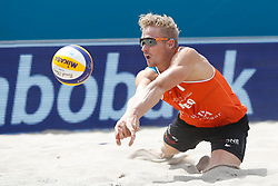 20180717 NED: CEV DELA Beach Volleyball European Championship day 3<br />Sven Vismans (1) of The Netherlands <br />©2018-FotoHoogendoorn.nl