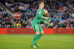 January 7, 2018 - Barcelona, Catalonia, Spain - Marc Andre Ter Stegen  during the Spanish league football match FC Barcelona vs Levante UD at the Camp Nou stadium in Barcelona on January 7, 2018. (Credit Image: © Joan Valls/NurPhoto via ZUMA Press)