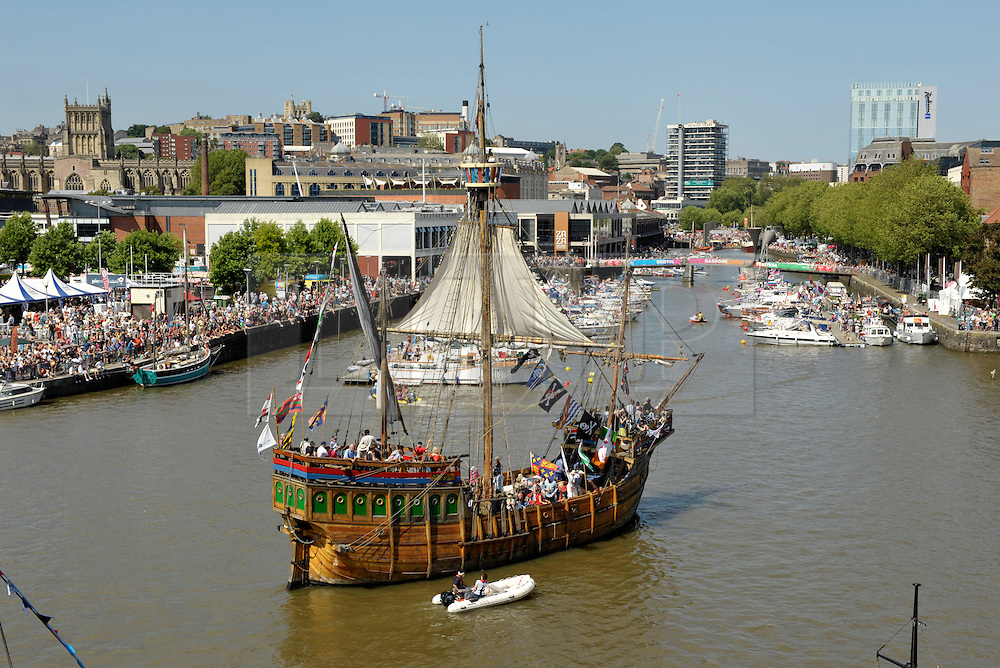 © Licensed to London News Pictures. 22/07/2012. Bristol, UK. Bristol Harbour Festival in Bristol docks.   Picture of The Matthew, a replica of the ship that sailed west from Bristol in 1497, searching for Asia but discovered America instead, before Christopher Colombus.22 July 2012..Photo credit : Simon Chapman/LNP