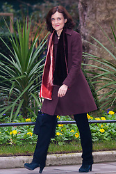 London, February 10th 2015. Ministers arrive at the weekly cabinet meeting at 10 Downing Street. PICTURED: Theresa Villiers MP, Secretary of State for Northern Ireland