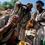 Water is the key to life and a fundamental right for all human beings.  However, more than 800 million people see this right infringed upon. Guaranteeing all people access to safe water is the key to their future and their ability to lead a decent life. Samre, Ethiopia.