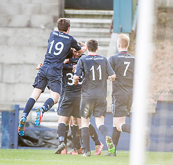 Falkirk's Rory Loy celebrates after scoring their third goal.<br /> Raith Rovers 2 v 4 Falkirk, Scottish Championship game today at Starks Park.<br /> © Michael Schofield.