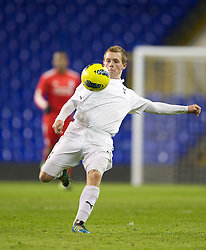 LONDON, ENGLAND - Wednesday, February 1, 2012: Tottenham Hotspur's Jack Barthram in action against Liverpool during the NextGen Series Quarter-Final match at White Hart Lane. (Pic by David Rawcliffe/Propaganda)