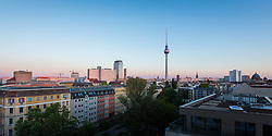 Berlin city at sunset, Germany. 04/06/14. Photo by Andrew Tallon
