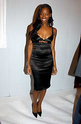 Singer JAMELIA at the Moet & Chandon Fashion Tribute 2005 to Matthew Williamson, held at Old Billingsgate, City of London on 16th February 2005.<br />