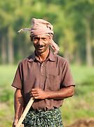 A farmer in Wayanad, Kerala, India