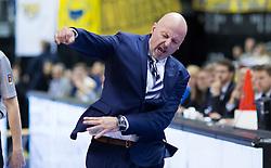 Berlin, Germany, 15.05.2015:<br />Basketball Bundesliga Playoffs Viertelfinale 3. Spiel 2014 / 2015 - ALBA Berlin - EWE Baskets Oldenburg.<br /><br />Trainer Sasa Obradovic (Alba) *** Local Caption *** © pixathlon