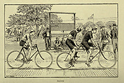 Pacing from 'Cycling' by The right Hon. Earl of Albemarle, William Coutts Keppel, (1832-1894) and George Lacy Hillier (1856-1941); Joseph Pennell (1857-1926) Published by London and Bombay : Longmans, Green and co. in 1896. The Badminton Library