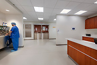 Interior image of Existing Hybrid Operating Room at Winchester Medical Center in VA by Jeffrey Sauers of CPI Productions