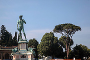 Italy, Florence, the David of the Piazzale Michelangelo