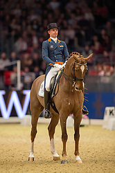 Minderhoud Hans Peter, (NED), Glock's Flirt<br /> Grand Prix Freestyle <br /> Reem Acra FEI World Cup Dressage <br /> London International Horse Show<br /> © Hippo Foto - Jon Stroud