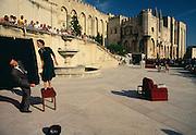 France, Provence, Avignon, Palace of the Popes, festival D'Avignon