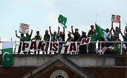 June 18, 2017 - London, United Kingdom - Pakistan Fans.during the ICC Champions Trophy Final match between India and Pakistan at The Oval in London on June 18, 2017  (Credit Image: © Kieran Galvin/NurPhoto via ZUMA Press)