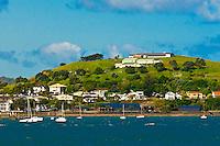The suburb of Devenport on Auckland Harbor, Auckland, New Zealand