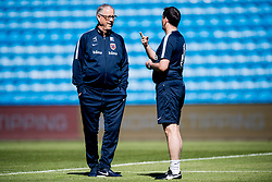 June 5, 2018 - Oslo, NORWAY - 180605 Lars Lagerbäck, head coach of Norway, and Per Joar Hansen, assistant coach of Norway, during a training session on June 5, 2018 in Oslo..Photo: Jon Olav Nesvold / BILDBYRÃ…N / kod JE / 160267 (Credit Image: © Jon Olav Nesvold/Bildbyran via ZUMA Press)
