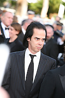 Nick Cave attends the gala screening of Lawless at the 65th Cannes Film Festival. The screenplay for the film Lawless was written by Nick Cave and Directed by John Hillcoat. Saturday 19th May 2012 in Cannes Film Festival, France.