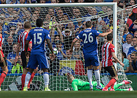 Football - 2016 / 2017 Premier League - Chelsea vs. Sunderland <br /> <br /> Jordan Pickford of Sunderland can only look back as Willian's shot hits the back of the net at Stamford Bridge.<br /> <br /> COLORSPORT/DANIEL BEARHAM
