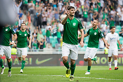 Rok Kronaveter of NK Olimpija Ljubljana celebrates goal during football match between NK Olimpija Ljubljana and NK Krsko in Round #35 of Prva liga Telekom Slovenije 2017/18, on May 23, 2018 in SRC Stozice, Ljubljana, Slovenia. Photo by Urban Urbanc / Sportida