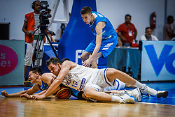Prepelic  Bine of Slovenia and Kadras  Konstantinos of Greece during basketball match between National teams of Greece and Slovenia in the Group Phase C of FIBA U18 European Championship 2019, on July 29, 2019 in  Nea Ionia Hall, Volos, Greece. Photo by Vid Ponikvar / Sportida
