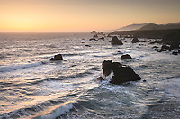 Sunset view of Sonoma Coast California