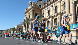 DELL ANGELA makes her way past Town hall during the 2016 Sanlam Cape Town marathon held in Cape Town, South Africa on the 18th September  2016<br /> <br /> Photo by: Ron Gaunt / RealTime Images
