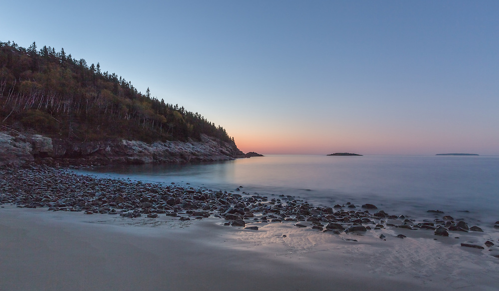 The bliss of solitude can seldom be expressed in words.  A lone walk along Sand Beach made the morning even more beautiful.