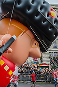 A giant town cryer/mayor passes piccadilly circus - The New Years day parade passes through central London form Piccadilly to Whitehall. London 01 Jan 2017