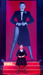 """© Licensed to London News Pictures. 17/06/2015. London, UK. Becky O_Brien performing. UK premiere of """"Judy - The Songbook of Judy Garland"""" - a show celebrating the classic songs of Judy Garland - opens at the New Wimbledon Theatre, London before a UK tour. The show runs from 16 to 20 June 2015. Photo credit : Bettina Strenske/LNP"""
