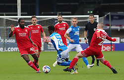 Siriki Dembele of Peterborough United takes on Swindon Town - Mandatory by-line: Joe Dent/JMP - 03/10/2020 - FOOTBALL - Weston Homes Stadium - Peterborough, England - Peterborough United v Swindon Town - Sky Bet League One