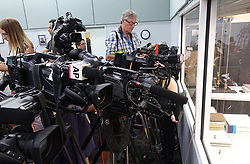Media crowd into the observation area on Sunday, November 11, 2018, at the Broward Supervisor of Elections office in Lauderhill, FL, USA. Photo by Joe Cavaretta/Sun Sentinel/TNS/ABACAPRESS.COM