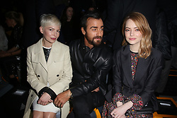 Michelle Williams, Justin Theroux and Emma Stone attending the Louis Vuitton show as part of the Paris Fashion Week Womenswear Fall/Winter 2018/2019 held at Le Louvre, in Paris, France, on march 05, 2018, France. Photo by Jerome Domine/ABACAPRESS.COM