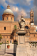 Palermo Cathedral, Sicily .<br /> <br /> Visit our SICILY HISTORIC PLACES PHOTO COLLECTIONS for more   photos  to download or buy as prints https://funkystock.photoshelter.com/gallery-collection/2b-Pictures-Images-of-Sicily-Photos-of-Sicilian-Historic-Landmark-Sites/C0000qAkj8TXCzro<br /> .<br /> <br /> Visit our MEDIEVAL PHOTO COLLECTIONS for more   photos  to download or buy as prints https://funkystock.photoshelter.com/gallery-collection/Medieval-Middle-Ages-Historic-Places-Arcaeological-Sites-Pictures-Images-of/C0000B5ZA54_WD0s