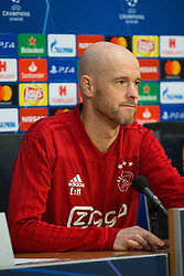 February 12, 2019 - Amsterdam, Netherlands - Coach Ajax Ten Hag pictured during the press conference before UEFA Champions League match playoff 1/8 finals game between Ajax Amsterdam and Real Madrid at Amsterdam Arena on February 12, 2019 in Amsterdam Netherlands. (Credit Image: © Federico Guerra Moran/NurPhoto via ZUMA Press)