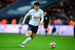 Son Heung-Min of Tottenham Hotspur - Mandatory by-line: Alex James/JMP - 07/02/2018 - FOOTBALL - Wembley Stadium - London, England - Tottenham Hotspur v Newport County - Emirates FA Cup fourth round proper