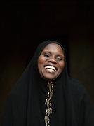 Local woman laughing, Djenné, Mali