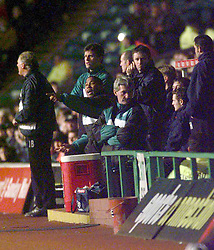 John Barnes as Celtic manager in charge. CELTIC V DUNDEE - CIS CUP..©2010 Michael Schofield. All Rights Reserved.