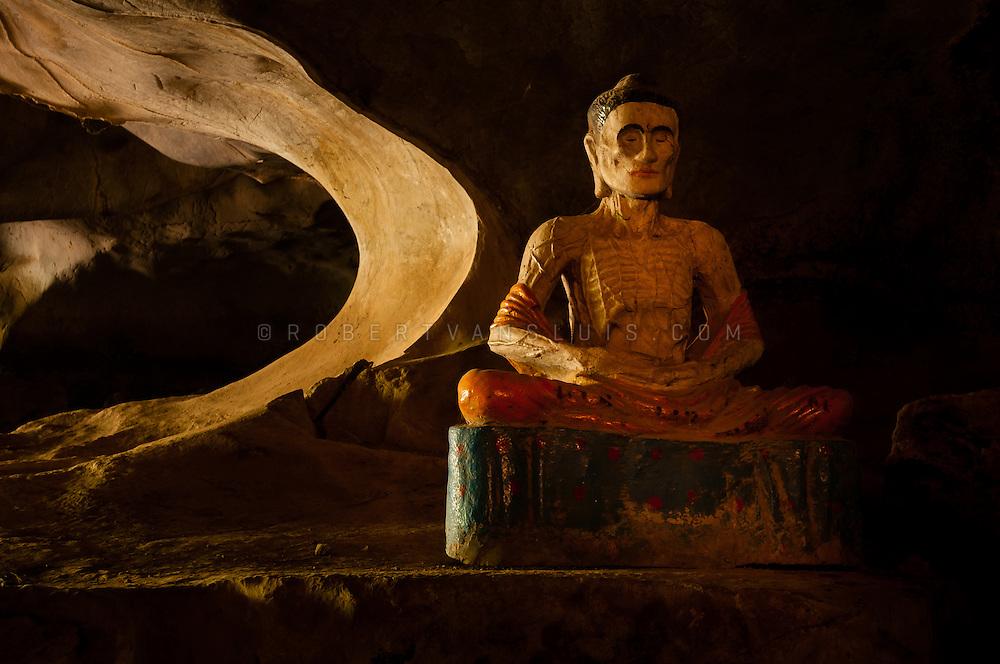 Fasting cave Buddha, Phnom Sor, near Kompong Trach, Cambodia