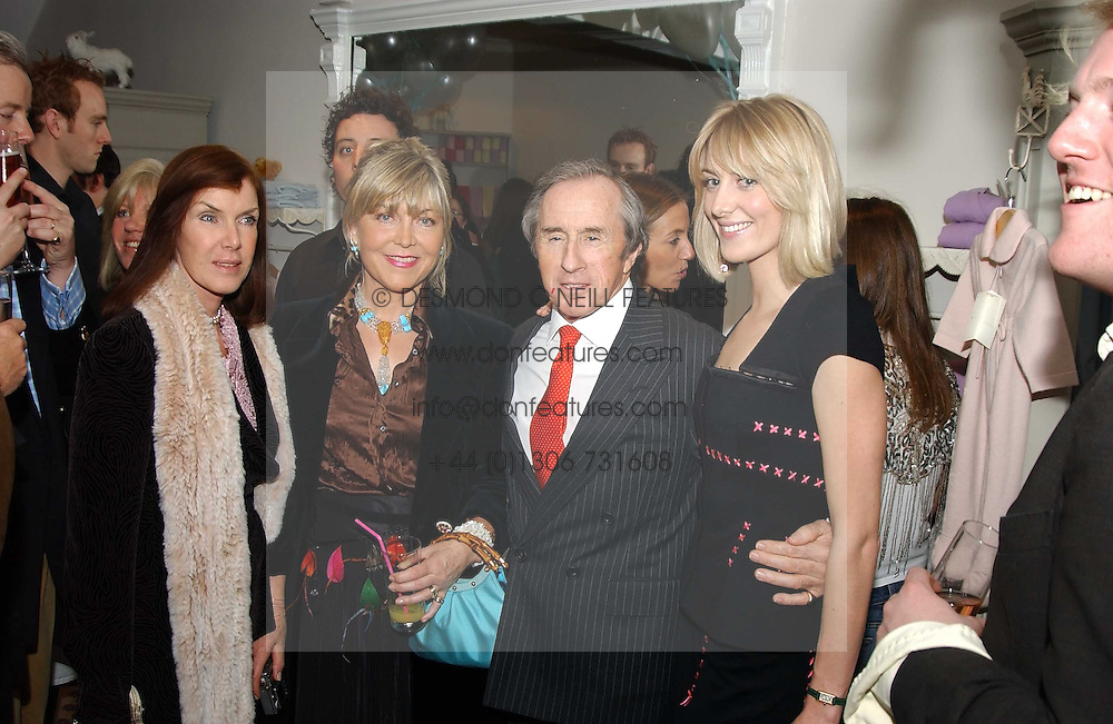 Left to right, LADY STEWART, ROSIE, MARCHIONESS OF NORTHAMPTON, SIR JACKIE STEWART and LADY EMILY COMPTON at a party to celebrate the opening of children's store Chippi Hacki at 8 Motcomb Street, London, SW1 on 24th November 2004.<br /><br />NON EXCLUSIVE - WORLD RIGHTS