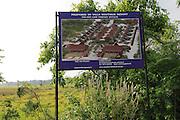 Sign about proposed villa property development boutique resort Pasikudah Bay, Eastern Province, Sri Lanka, Asia